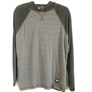 Pony Striped Lightweight Hoodie Size Large